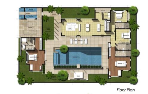 4 Bedrooms Villa with Swimming Pool for Sale Layan PhuketPhuket – Swimming Pool Site Plan