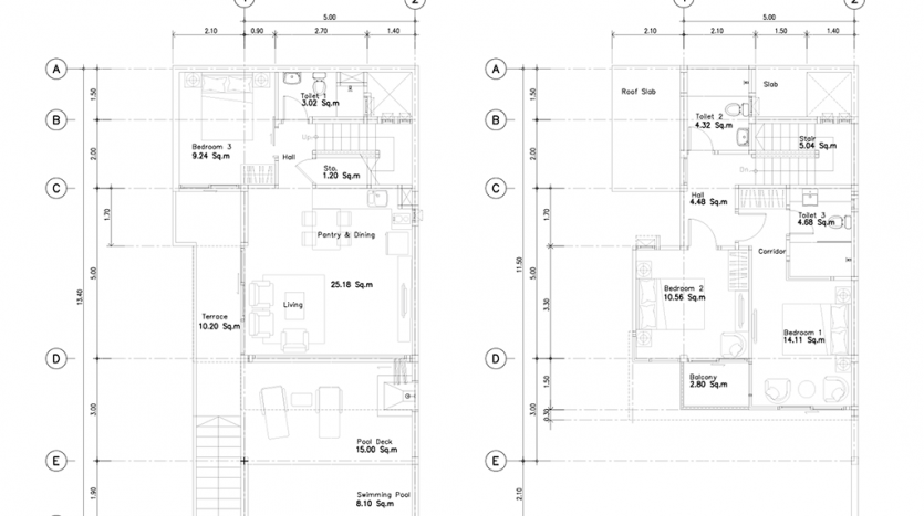 FloorPlan-3Beds-for sale villa kata phuket